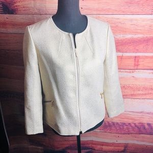 ANN TAYLOR LOFT - Metallic Gold Jacket